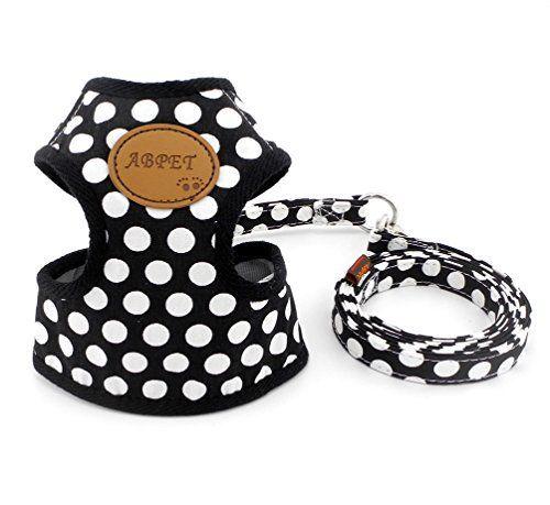 Smalllee Lucky Store Laisse/harnais pour petit chien ou chat Motif à pois Respirant, en maille filet souple et durable: Taille Détails:…