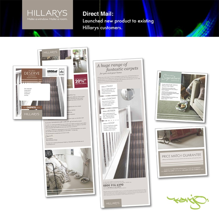 Kanjo help launch the new carpet range for Hillarys through a targeted #directmail campaign.