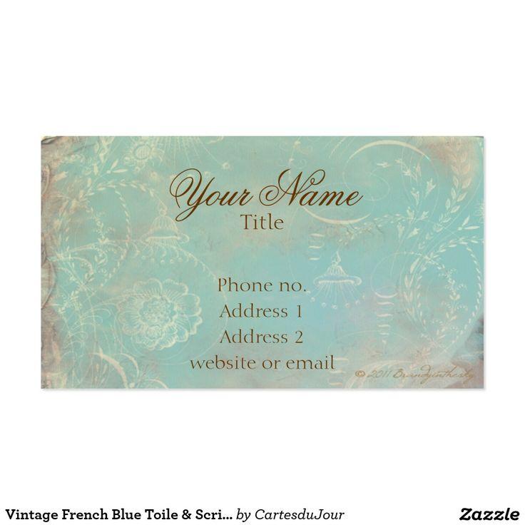 29 best Business Cards: Blue images on Pinterest | Visit cards ...