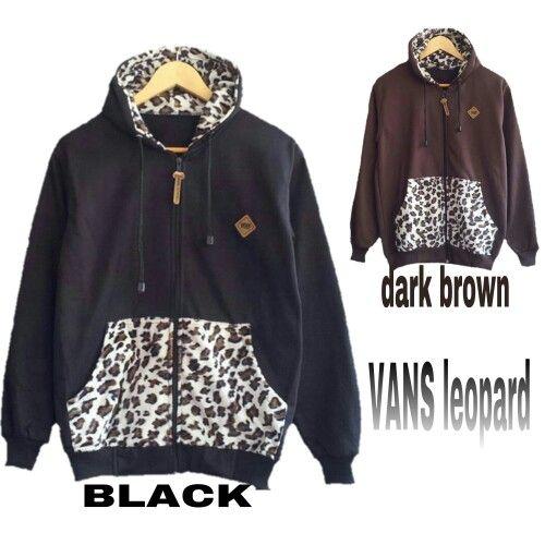 #jaketfleece VANS LEOPARD, bahan fleece harga 55k www.ramailancar.com www.facebook.com/tokobajurajutmurah 0857 2212 6318