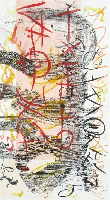 """Scriptograph #16, 2012, watercolor from vellum and mat board, 27"""" x 17"""""""