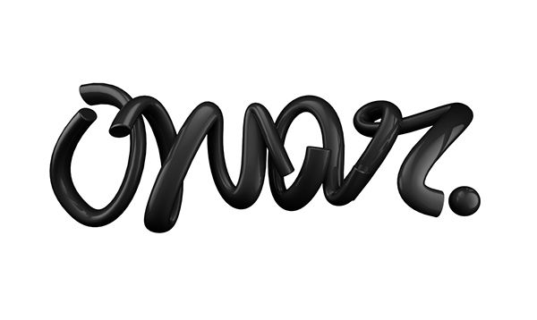 Abstract Typography (Black) on Behance
