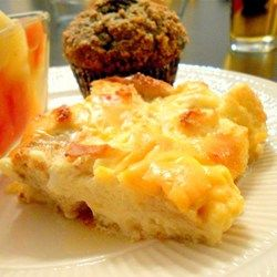 Christmas Morning Egg Casserole - Allrecipes.com- I would use cheddar cheese instead of American.