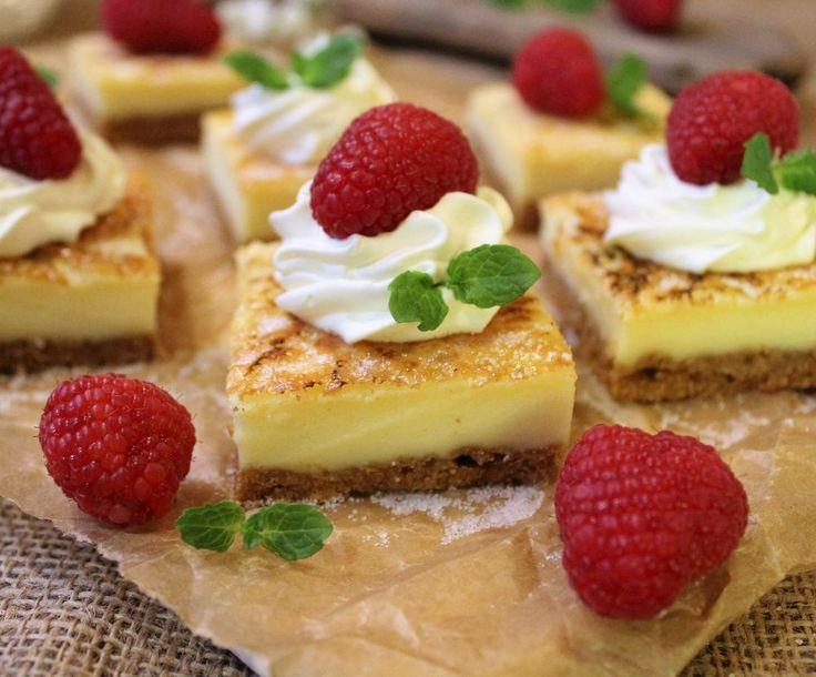 Créme brulée cheesecake bars