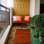 dikdörtgen alana sahip modern balkon modeli