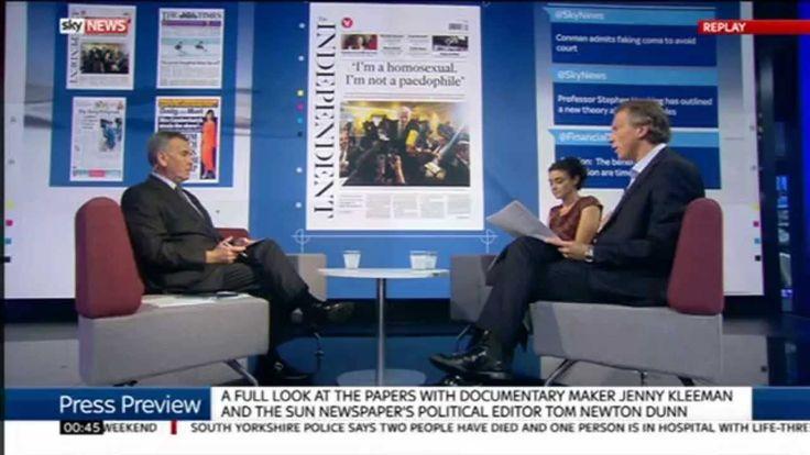 The Sun's Tom Newton Dunn backs  Harvey Proctor & Ted Heath on Sky Press Review