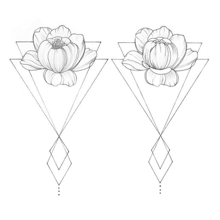 WTKE (@sofia_finardi) ON INSTAGRAM | Drawing | black | white | pen | sketching | art | peonies | flowers | geometric | tattoo | fineline | fineart #geometric_rib_tattoo