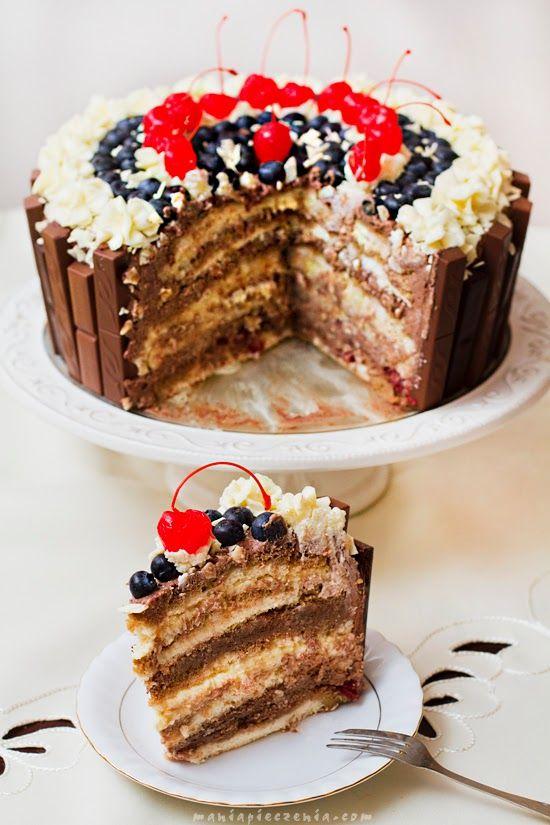 """maniapieczenia: Tort czekoladowo - kokosowy w """"koronie"""""""