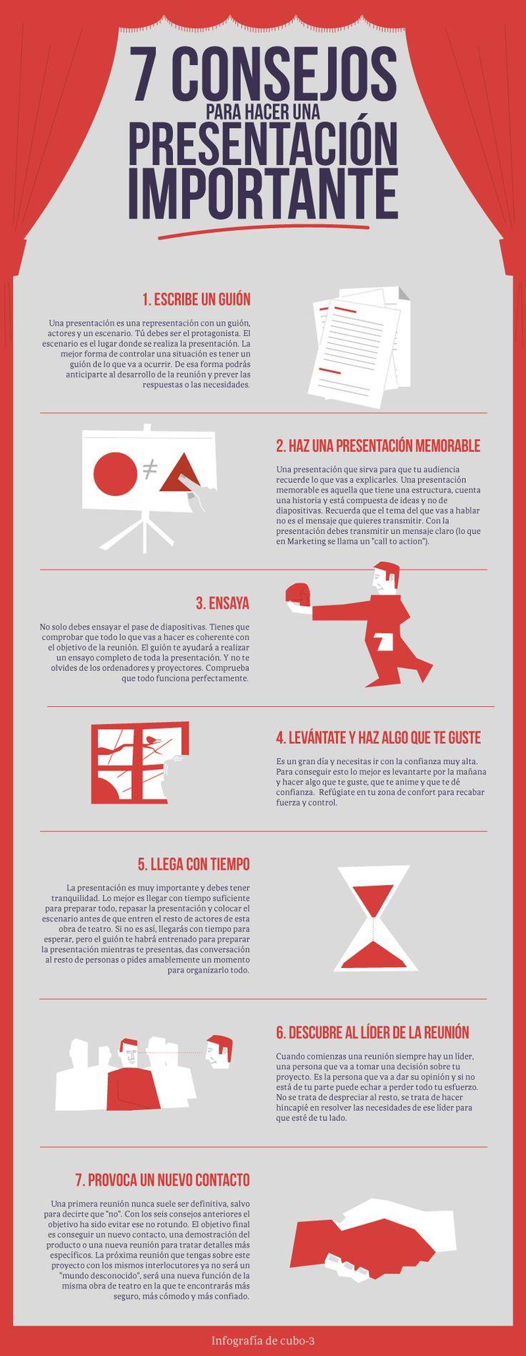 7 consejos para hacer una #presentación importante #infografia #marketing