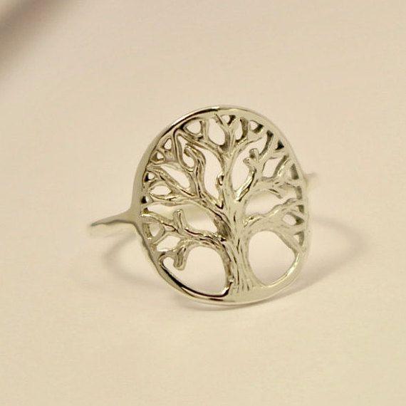 Anillo árbol de la vida árbol de la vida anillo de plata