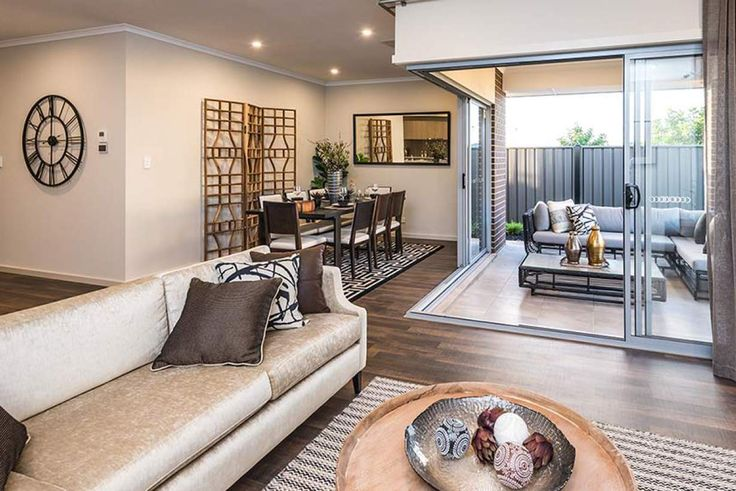 This homely living area is spacious, comfortable and stylish. #weeksbuildinggroup #newhome #homedesign