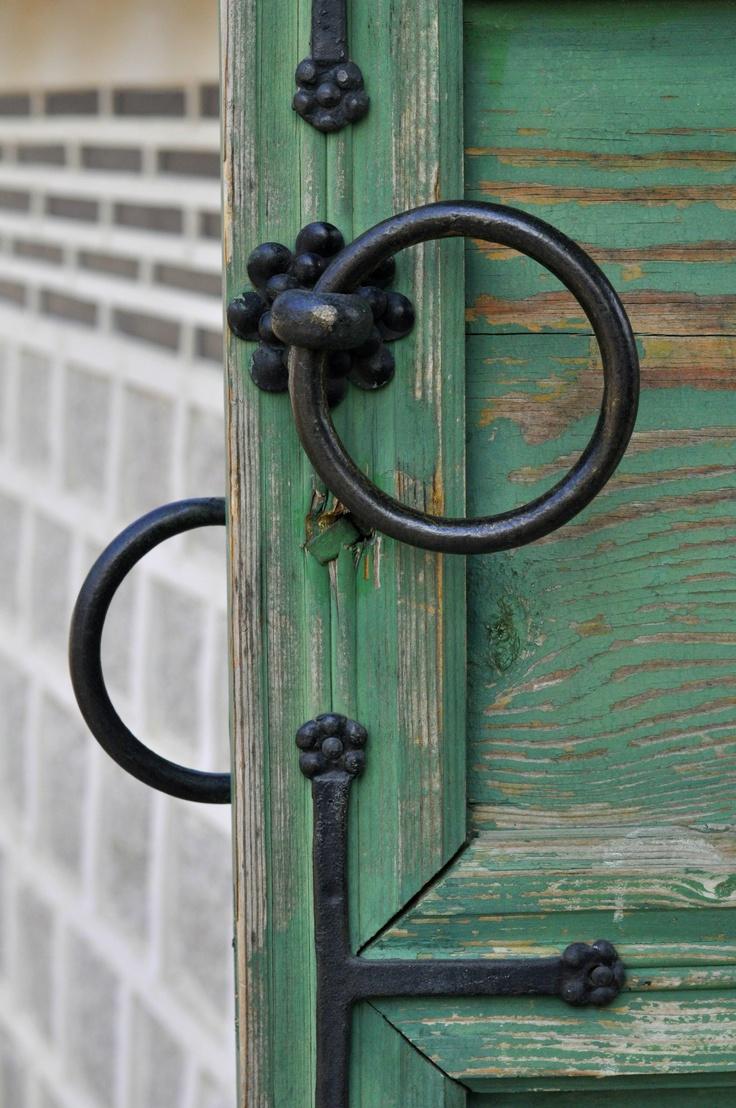 Gyeongbukgong Palace doors in Seoul, South Korea