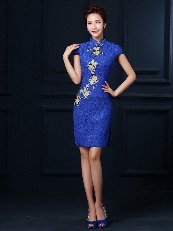 Oriental cocktail dress