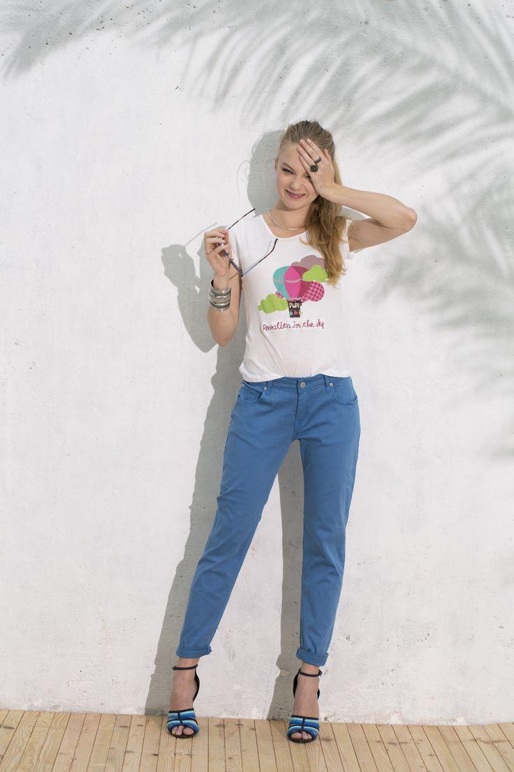 Camiseta Domingo y Pantalón Sardina #camisetaglobos #bluetrousers