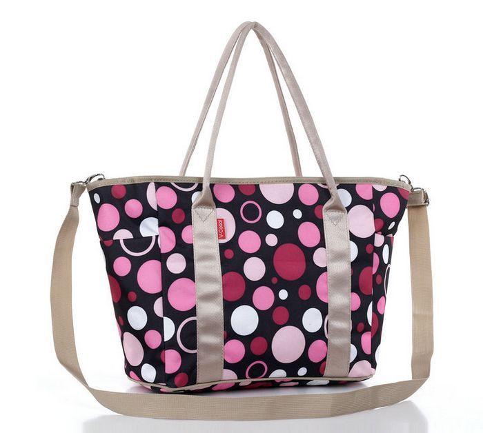 dribbleanddrool - Pink Dots Nappy Bag, $29.00 (http://www.dribbleanddrool.com.au/pink-dots-nappy-bag/)