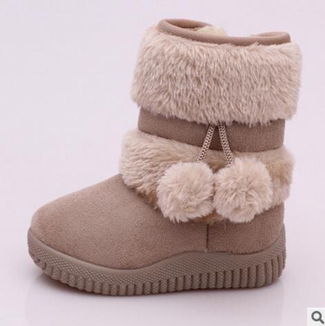 Mädchen Winterstiefel Neue Mode Komfortable Dicke Warme Kinder Stiefel Lobbing Ball Dicke Kinder Winter Nette Jungen Stiefel Prinzessin Schuhe