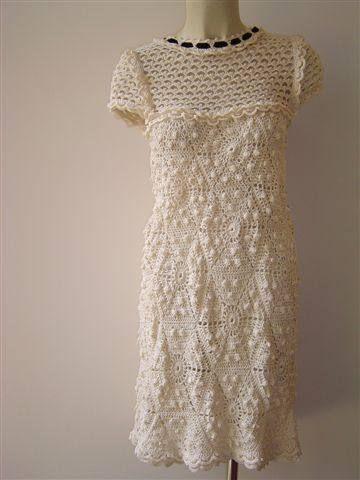 Hooked on crochet: Crochet dresses by Vanessa Montoro / Vestidos de crochê de Vanessa Montoro