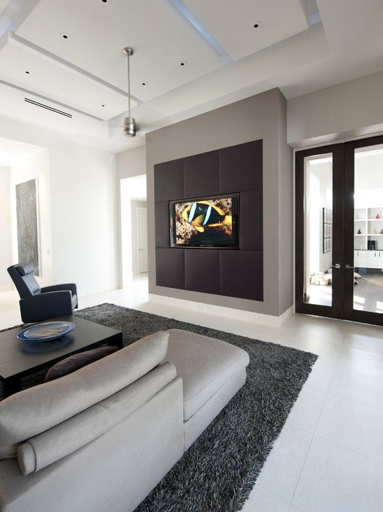 media wall contemporary media room tampa by richlin interiors