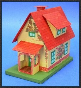 Vintage Tin-Style Cottage Free Building Paper Model Download | PaperCraftSquare.com
