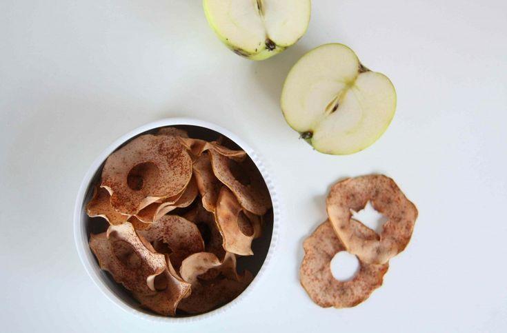 Sprøde æble-chips