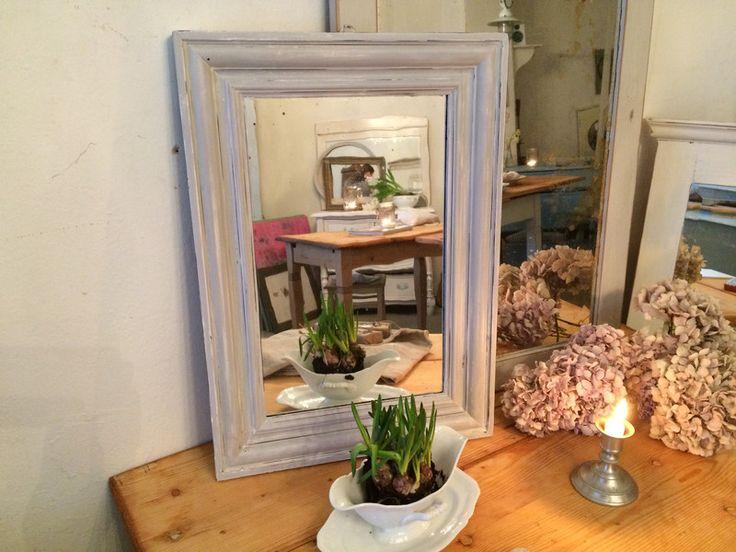 Vintage Spiegel - antiker Spiegel im Shabby-Stil - ein Designerstück von RomAntik-andrea bei DaWanda