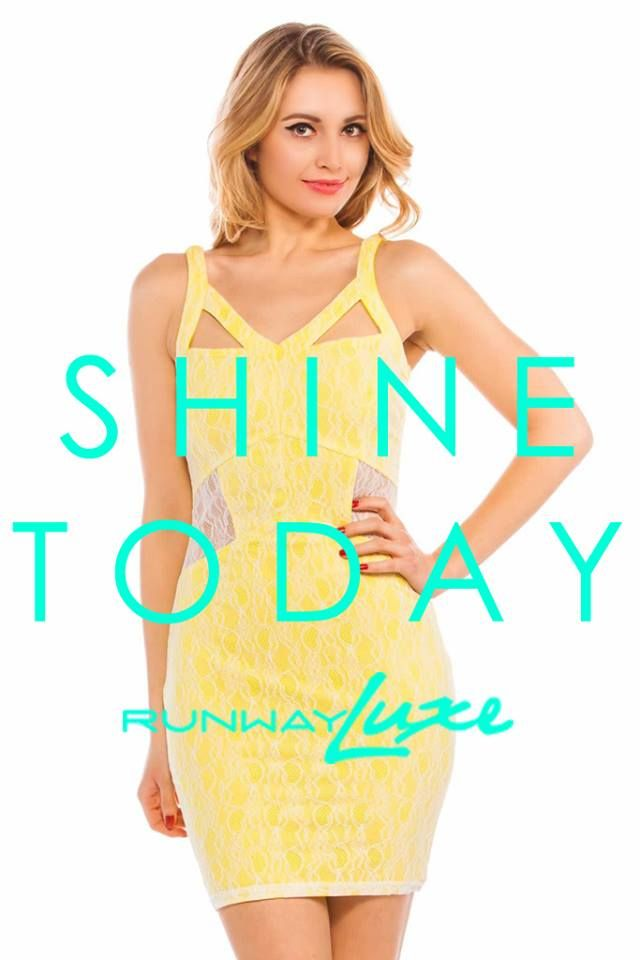 ~ SHINE ~ #BeBold #shinetoday #fashion #style #luxe  www.runwayluxe.com