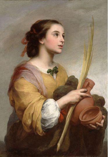 Bartolomé Esteban MURILLO (1617/18–1682) Saint Justa (Santa Justa), c. 1665 Oil on canvas (óleo sobre lienzo) Algur H. Meadows Collection, 72.04
