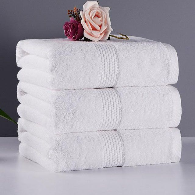 Material 100 Cotton Pattern Plain Style Jacquard Type Hand Towel