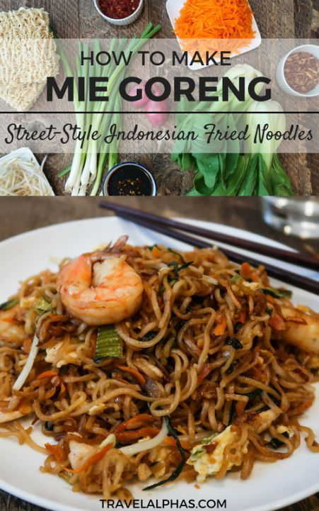 Mie goreng is a delicious and traditional dish of fried noodles found throughout Indonesia. A good mie goreng is equal parts sweet, salty, and umami, and packed with fresh vegetables and tender chicken and/or shrimp. And between the chewy noodles, fried shallots, crunchy bean sprouts, scrambled eggs, and succulent proteins, there are lots of interesting textures going on in each bite. There are very few (if any?) noodle dishes I love more than this one. Try this mie goreng recipe today!