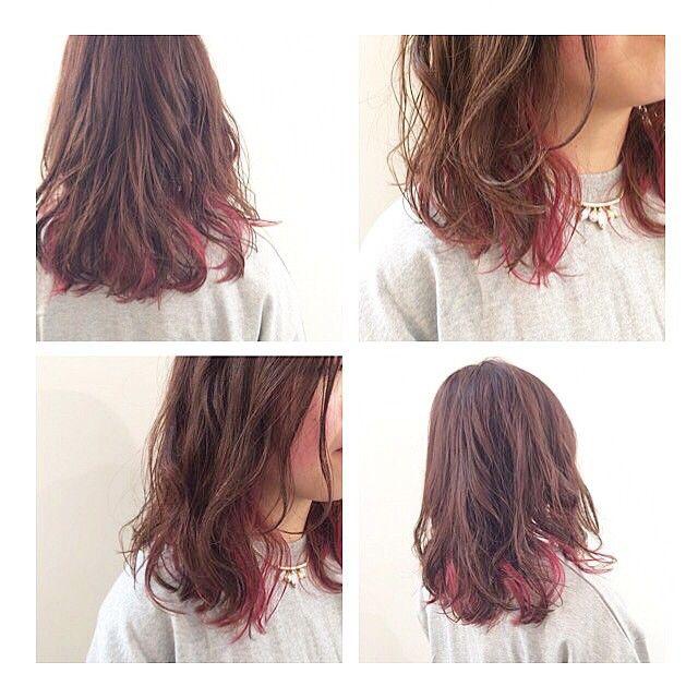 #mulpix hair color. インナーカラー × さくらピンク. hair/make : nagashima. #ヘア #ヘアカラー #インナーカラー #ハイライト #サクラ #ガーネット #ピンク #原宿 #表参道 #美容室 #haircolor #arrange #ヘアアレンジ #楽しくなるよ #☻