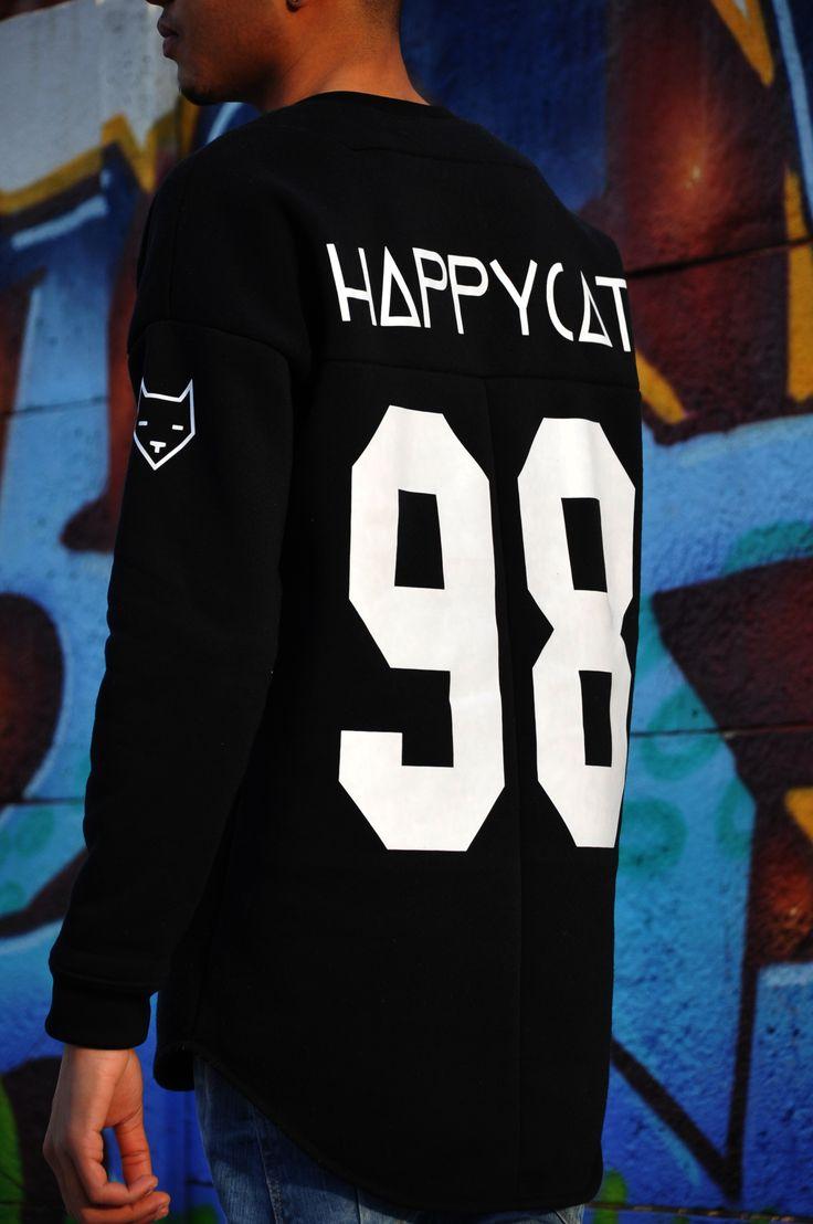 Bluza HAPPYCAT ✔✔✔ PLAYER CAT NINETY - EIGHT.   #HAPPYCATDESIGN #STREETWEAR #URBANOUTFIT #BLACKANDWHITE #SWAG #KICKS #SNEAKERHEAD #SNEAKERS #POLISHBOY    www.facebook.com/happycat.design