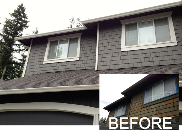 Like this color combo of chelsea gray exterior and white - Benjamin moore white dove exterior ...