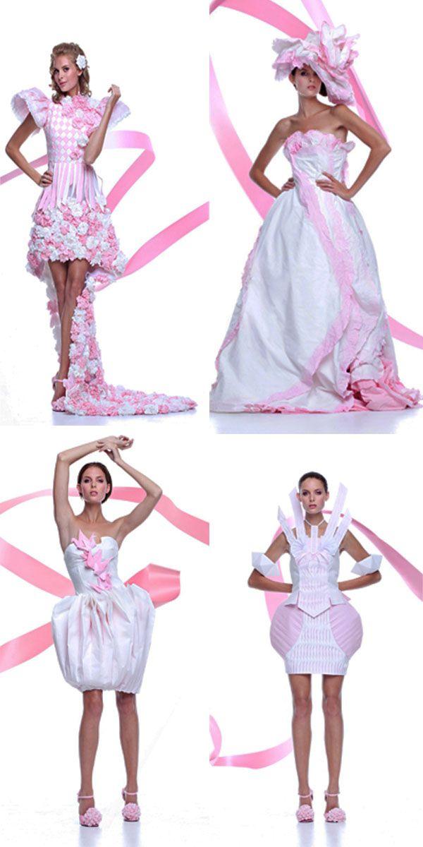 платья из бумаги, бумажные платья