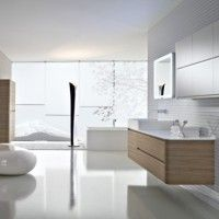 bagno bianco legno