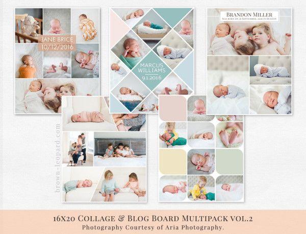 Collage & Blog Board Multipack vol.2 | Brown Leopard