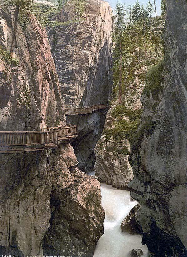 Zermatt, Upper Gorner Gorge, Valais, Alps of, Switzerland