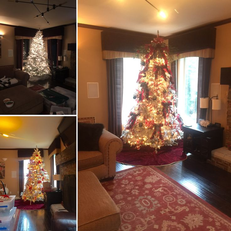 3 stages of tree decorating 2015 by Sherry Lynn Pierce
