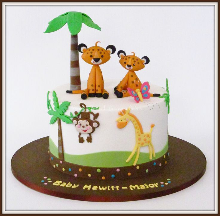 Fisher Price animal themed baby shower cake.