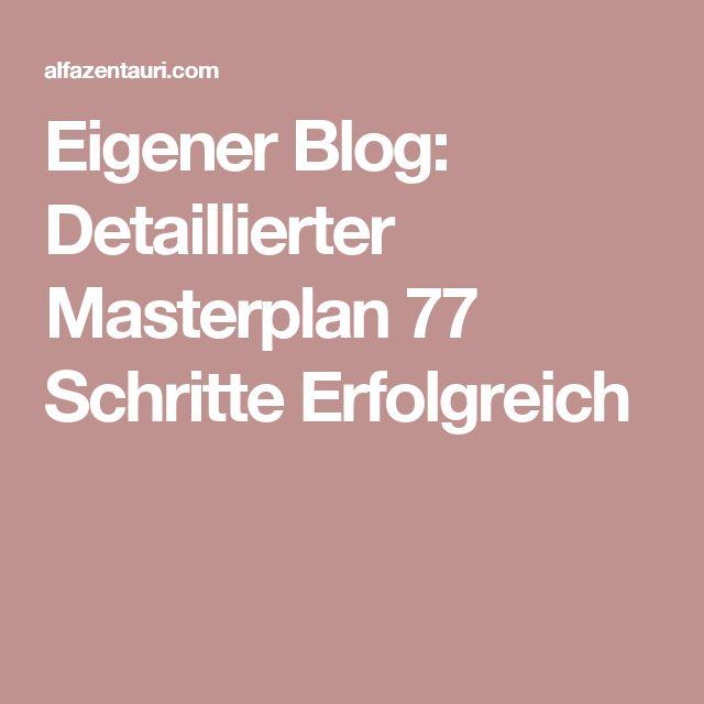 Eigener Blog: Detaillierter Masterplan 77 Schritte Erfolgreich