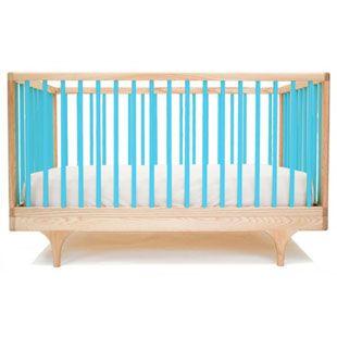Kalon Caravan Baby Cot. Love the blue