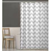 Maytex 70 x 72 Chevron Fabric Shower Curtain Grey