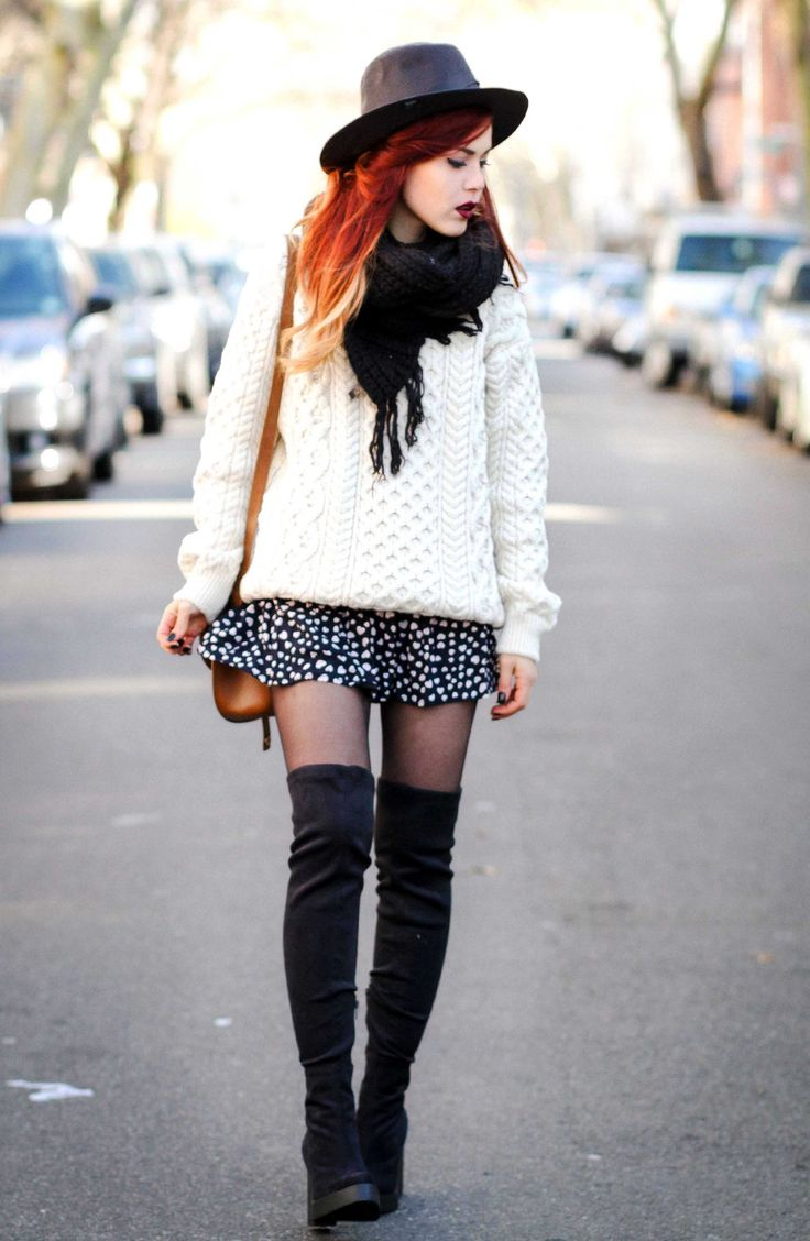 Get the look! This cosy Irish Aran sweater is so versatile and can be styled so many funky ways!