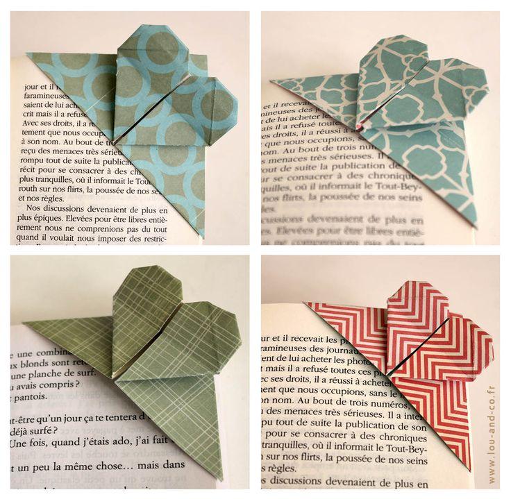 Petit marque page en origami à faire avec les enfants !
