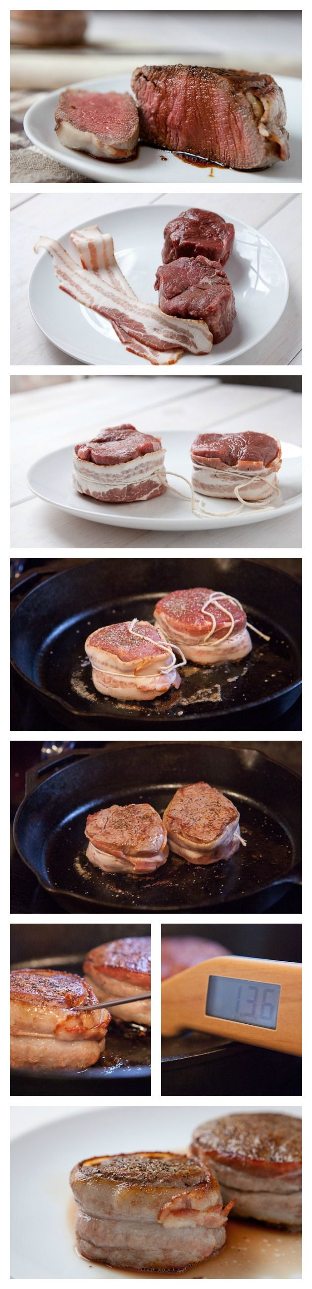 A surprisingly easy, yet elegant, steak wrapped in bacon and seared to perfection.
