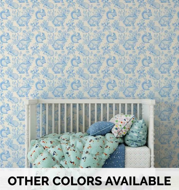 Woodland Wallpaper Toile Wallpaper Removable Wallpaper Etsy Removable Wallpaper Nursery Woodland Wallpaper Removable Wallpaper