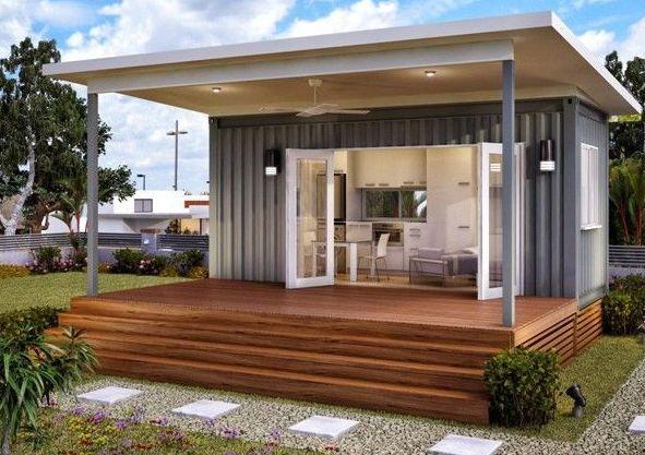 Дачное строение, выполненное с использованием современных отделочных материалов               http://stroitelstvoiremont.info/topics/dachnyj-domik-svoimi-rukami/