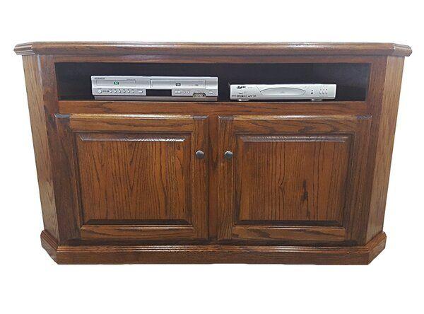 Katrina Solid Wood Corner Tv Stand For Tvs Up To 65 Wood Corner Tv Stand Corner Tv Stand Oak Corner Tv Stand Solid wood corner tv stand