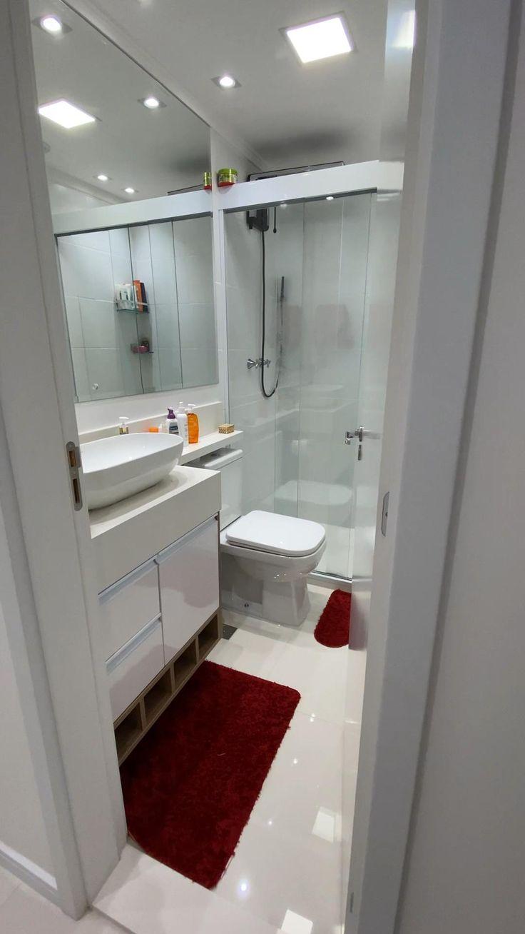 Condo Living, Minimalist Bathroom, White Bathroom, Modern House Design, Sweet Home, Vida Real, Small Rustic Bathrooms, Tiny Bathrooms, Modern Bathrooms