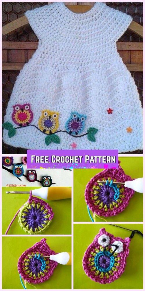 Crochet Girl's Chevron Dress Free Patterns