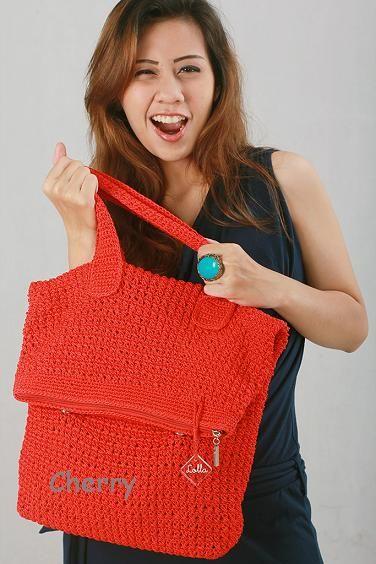 "Kniiting Bag ""Cherry"""